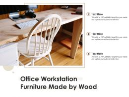 Office Workstation Furniture Made By Wood