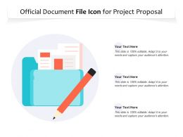 Official Document File Icon For Project Proposal