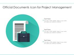 Official Documents Icon For Project Management