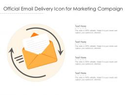 Official Email Delivery Icon For Marketing Campaign