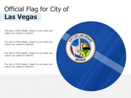Official Flag For City Of Las Vegas
