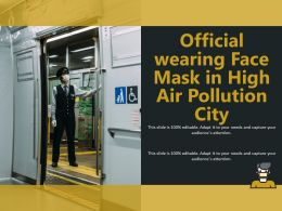 Official Wearing Face Mask In High Air Pollution City