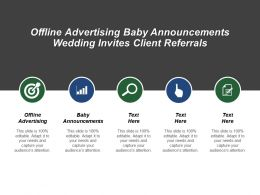 Offline Advertising Baby Announcements Wedding Invites Client Referrals