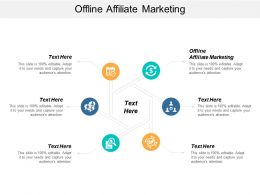 Offline Affiliate Marketing Ppt Powerpoint Presentation Summary Deck Cpb