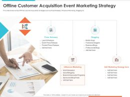 Offline Customer Acquisition Event Marketing Strategy Influencer Marketing Ppt Shows