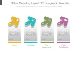 Offline Marketing Layout Ppt Infographic Template