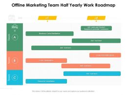 Offline Marketing Team Half Yearly Work Roadmap