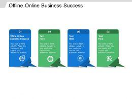 Offline Online Business Success Ppt Powerpoint Presentation Ideas Outline Cpb