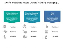 Offline Publishers Media Owners Planning Managing Creative Strategy