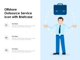 Offshore Outsource Service Icon With Briefcase