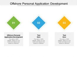 Offshore Personal Application Development Ppt Powerpoint Presentation Styles File Formats Cpb