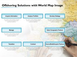 Offshoring Solutions With World Map Image