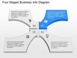 og Four Staged Business Info Diagram Powerpoint Template