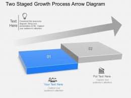 og Two Staged Growth Process Arrow Diagram Powerpoint Template