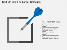 oh Dart On Box For Target Selection Flat Powerpoint Design