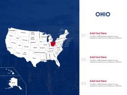Ohio Map Powerpoint Presentation PPT Template