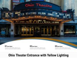 Ohio Theater Entrance With Yellow Lighting