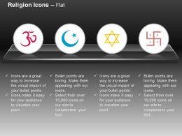 Ohm Islamic Swastik Jweish Ppt Icons Graphics