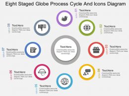 oi Eight Staged Globe Process Cycle And Icons Diagram Flat Powerpoint Design