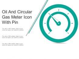 Oil And Circular Gas Meter Icon With Pin