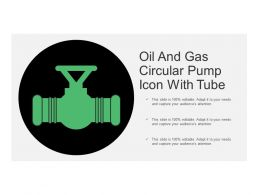 Oil And Gas Circular Pump Icon With Tube