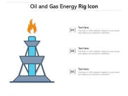 Oil And Gas Energy Rig Icon