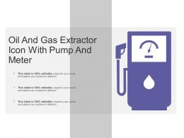 Oil And Gas Extractor Icon With Pump And Meter