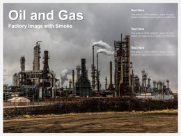 Oil And Gas Factory Image With Smoke