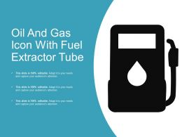 Oil And Gas Icon With Fuel Extractor Tube