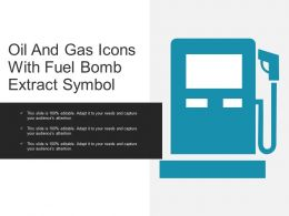 Oil And Gas Icons With Fuel Bomb Extract