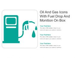 Oil And Gas Icons With Fuel Drop And Monition On Box
