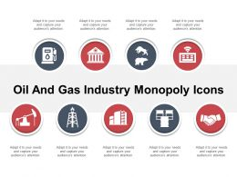 Oil And Gas Industry Monopoly Icons Powerpoint Slide Backgrounds
