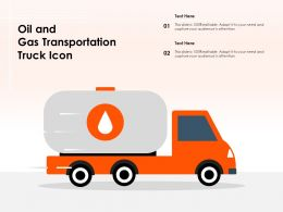 Oil And Gas Transportation Truck Icon