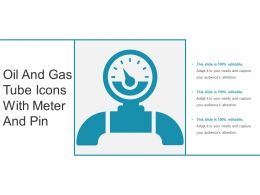 Oil And Gas Tube Icons With Meter And Pin