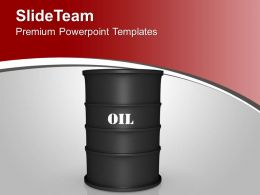 Oil Barrel Illustration Industrial PowerPoint Templates PPT Themes And Graphics 0213