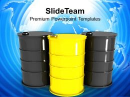 oil barrels and drum containers powerpoint templates ppt themes and graphics 0213