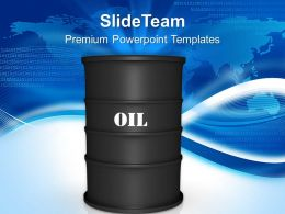 Oil Barrels Industrial Powerpoint Templates Ppt Themes And Graphics