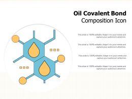 Oil Covalent Bond Composition Icon