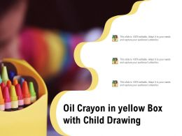 Oil Crayon In Yellow Box With Child Drawing