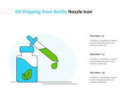 Oil Dripping From Bottle Nozzle Icon