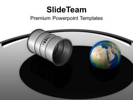 Oil Drum Earth Oilspill With Globe Industry PowerPoint Templates PPT Themes And Graphics 0213