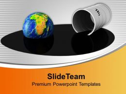 Oil Drum Liquid Energy Industrial Powerpoint Templates Ppt Themes And Graphics 0213