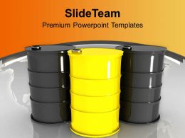 Oil Drums Placed Together Resource Saving PowerPoint Templates PPT Themes And Graphics 0213