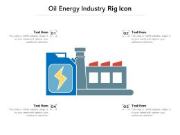 Oil Energy Industry Rig Icon