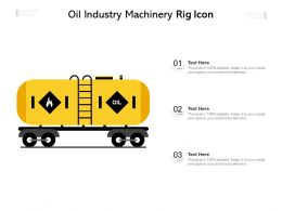 Oil Industry Machinery Rig Icon