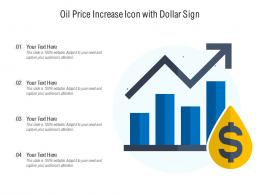 Oil Price Increase Icon With Dollar Sign