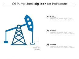 Oil Pump Jack Rig Icon For Petroleum