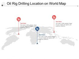 Oil Rig Drilling Location On World Map