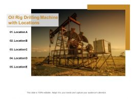 Oil Rig Drilling Machine With Locations