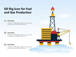 Oil Rig Icon For Fuel And Gas Production